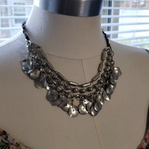 Maurices' Sliver & Black Necklace 17""